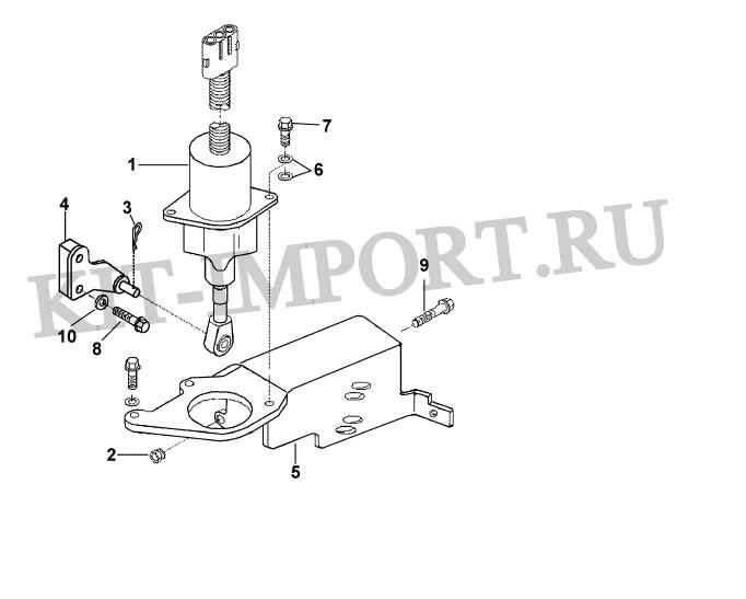 Установка электромагнитного клапана педали акселератора FV9387