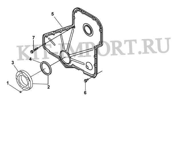 Крышка корпуса распределительных шестерен GG9806