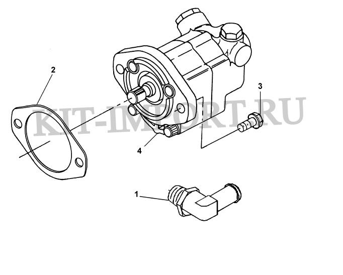 Установка гидронасоса рулевого управления HD9161