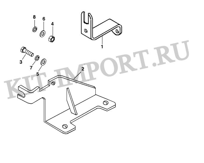 Кронштейны троса привода рейки ТНВД MS9067