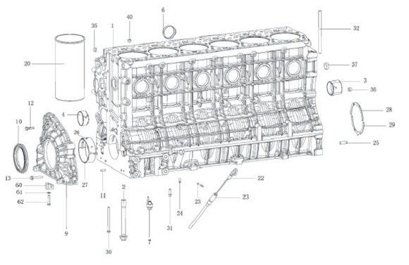 Блок цилиндров WP12